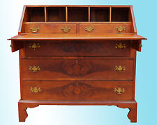 BEAUTIFUL CHERRY AND MAHOGANY SLANT FRONT OR DROP FRONT DESK C 1790-1810