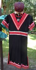 Boy's MiddleEast Multi Color Ethnic Tunic/Robe w/Stripes & Metal Studs + Hat S-M