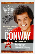 LORETTA LYNN COAL MINERS DAUGHTER Concert Poster SIGNED AUTOGRAPH /Conway Twitty
