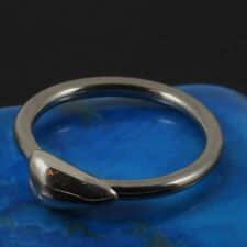 Lip Face Piercing Silver Center Heart S316L Surgical Steel Ring 1.2 x 10mm New