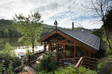 log cabin  boathouse hottub kayaks luxury cottage  fishing last min short break