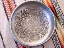 "EIK NORWEGIAN 7"" PEWTER ACANTHUS ROSEMALING BOWL NORWAY Fabulous!!"