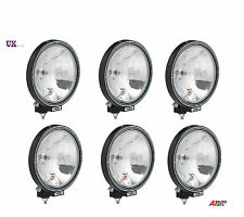 "6X 12V/24V 9"" INCH ROUND FOG SPOT LIGHTS LAMPS CAB TOP BAR TRUCK LORRY 4X4"