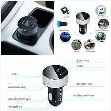 Multifunction Dual USB Car Phone Rapid Charger Adapter Voltage DC 5V 3.1A Tester