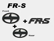 Front + Rear + FRS Trunk Badge Emblem Logo Matte Black For Scion FRS FR-S ZN6