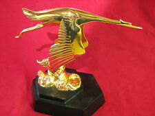 Mascot 1920 Hispano Suiza Stork a fine plated replica desk piece marked F. BAZIN
