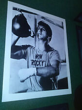 ROCKY II Movie Sylvester Stallone 8 x 10 Black and White Boxing Photo Photograph
