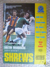 1980 SHREWSBURY TOWN v BOLTON WANDERERS, 7 Oct (League Division Two)