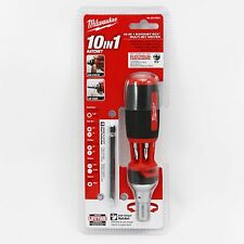 Milwaukee Tool 10 In 1 Ratchet ECX Mutli-Bit Screw Driver 48-22-2301