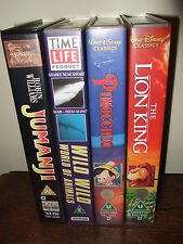 4 Video's Bundle - Jumanji - Pinocchio - The Lion King - Wild World of Animals