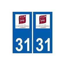 31 Cornebarrieu logo ville autocollant plaque stickers droits