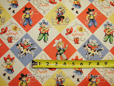 Yippie Rodeo Lil Cowpokes Cowboys Horses By YARDS Michael Miller Cotton Fabric