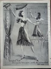 1947 Womens TEWI Pantalon Skirt Turnabout Tease Slip Lingerie Bra Ad