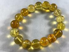 DOMINICAN AMBER CLEAR BRACELET GREEN MIX UNIQUE STONE GEM 23.6g 12-13mm