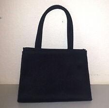 ARTISTRY Matte Black Red Lined Small Evening Bag Snap Handbag Elegant Purse EUC
