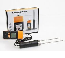 CE APPROVED DIGITAL WOOD MOISTURE METER DAMP DETECTOR TESTER 12 MONTHS WARRANTY