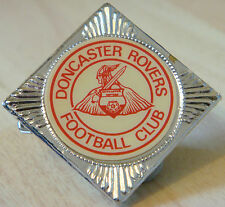 DONCASTER ROVERS Vintage insert badge Brooch pin In chrome press tin 27mm x 27mm