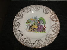 Crown ducal crinoline/lavande lady chintz 20cm dia plaque