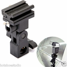 Black B Type Camera Flash Speedlite Mount Swivel Light Stand Bracket