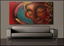 Home Decor Large Face Buddha Worship Picture Painting Art Wall On Canvas Prints