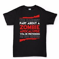 Hardest Part About A Zombie Apocalypse Funny the Walking Dead T shirt