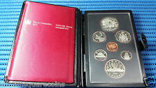 1981 Canada Uncirculated Proof Coin Set, Locomotive $1 Commemorative Silver Coin