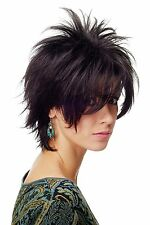 perruque Noir Cheveux courts perruque wilde Mèches 80er Wave Punk BLUE144-2
