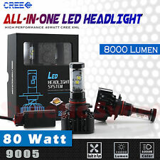 New 9005 High Power 8000LM 80W CREE XML LED Headlights High Beam DRL 6000K White
