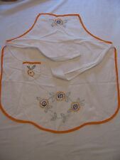Vintage Hand Embroidered Apron Bib Project Almost Finished