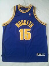RARE REEBOK AUTHENTICS DENVER NUGGETS #15 CARMELO ANTHONY JERSEY SIZE 54