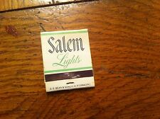 SALEM LIGHTS Menthol Fresh Cigarette Cigarrete Vintage Matchbook Tobacco RARE