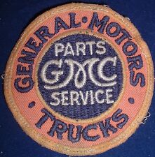 EARLY Vintage GMC General Motors Trucks Embroidered Automotive Sew On Patch