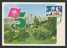 SPAIN MK 1983 PFADFINDER SCOUTS JAMBOREE MAXIMUMKARTE MAXIMUM CARD MC CM d5199