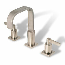 Bathroom Widespread Vanity Sink Faucet cUPC NSF AB 1953 Lead Free Brushed Nickel