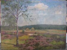 Gemälde Heide / Heidelandschaft - 1.Hälfte 20.Jh. - Signiert Paul ...