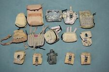 "1:6 Modern US Army Military Bag & Pouches for 12"" Action Figures (15 pcs) C-105"