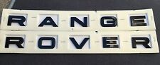 NEW RANGE ROVER GLOSS BLACK 3M LETTERS HOOD OR TRUNK TAILGATE EMBLEM NAMEPLATE