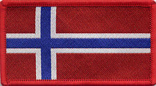 Norway Norwegian Flag Woven Badge Patch 8cm x 4.5cm