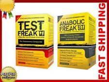TEST FREAK 120 + ANABOLIC FREAK 96 - PHARMA -TESTOSTERONE - Free Worldwide Shipp