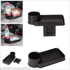 Convenient 2in1 Black Car Truck Seat Crevice Storage Debris & Bottle Box Holder