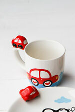 NEW Red Car Mug Cup Ceramic Kid Children 3D