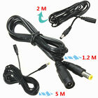 1 PCS Black 5.5mm x 2.1mm DC Power Male to Female Extension Cable Cord Connector