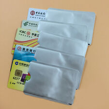New 12Pcs Credit Card Holder Protective Case Shield RFID Blocking Secure Sleeves