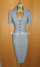 Immaculate Grey Reiss Check Tailored Work Dress UK 8 36 Business Office Pencil