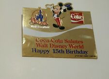 Large Center Pin from Disney / Coca Cola 15 year Salute Set Mickey Coke WDW