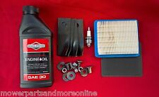 """18"""" Rover Lawn Mower Service Kit Blades, Oil, Plug, Filters 491588s A01118/627K"""