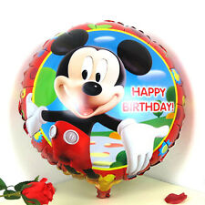 "18"" Mickey Mouse Happy Birthday round foil balloon 45cm red border"