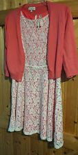 Gorgeous Girl's Party Dress Teenage to Size Ladies 8-10 Pink & White  Chest 34""