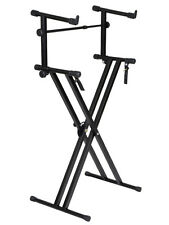 X Style Pro Dual Music Keyboard Stand Electronic Piano Double 2-Tier Adjust
