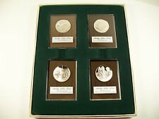 1972 Franklin Mint Sterling Silver Proof Set Holiday Christmas Ingots Medallions